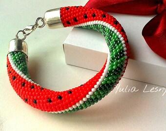 Beaded bracelet Watermelon
