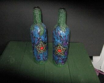 Two Pentagram Candle Bottles