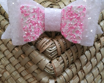 Double stacked glitter bow