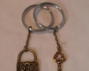 Key and Lock Keyring Set