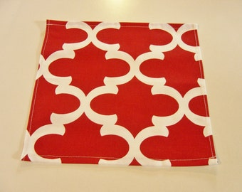 Red Table Square,  table topper, table square, table runner, cotton, home decor