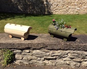Wooden Romani Wagon Planter (Free Delivery) garden planter, outdoor planter