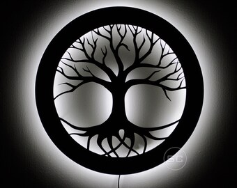 Tree of Life Night Light - Spiritual Tree of Life Sign and Decor