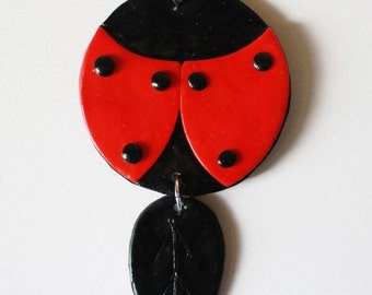 Necklace in Fimo ' Ladybug '