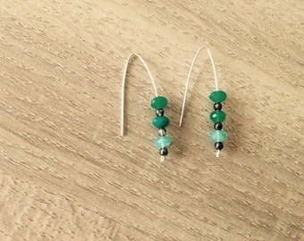 Silver ball earrings. Several colors