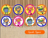 Team Umizoomi toppers, Team Umizoomi Cupcakes Toppers instant download, Printable Team Umizoomi party Topper