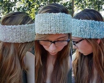 Crochet Headband Ear Warmer Rainbow Soft