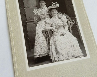 Cabinet Card - Early 1900s  -  Ladies' - Hats & Clothes