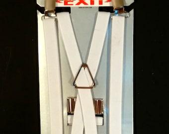 """White 5/8"""" Suspenders"""