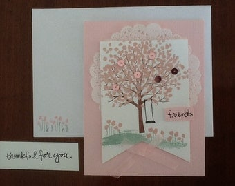 friends Thankful for you card