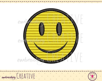 Machine embroidery design smiley for patch