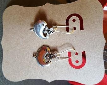 Earrings - tweet, tweet
