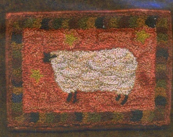 Woolley Sheep by Woolley Fox Punch Needle Pattern
