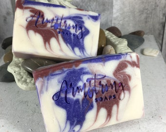 Pomegranate & Black Currant 100% Handmade Artisan Goats Milk Soap
