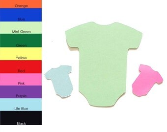 25 pack - Paper Onesie Shape, Baby Onesie Shapes, Onesie Paper Cut Out, Paper Baby Clothes Shape