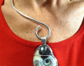 Sea Shell Fossil Pendent