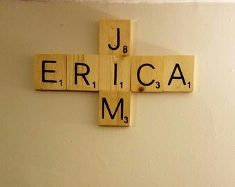 Hand Painted Scrabble Letters