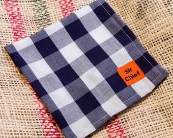 Gingham - Navy - Handkerchief / Pocket Square