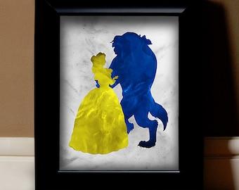 "Beauty & the Beast Digital Print - 11"" x 14"" Image File (White Background)"