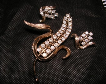 Signed 1964 Sarah Coventry Radiance Brooch & Earrings