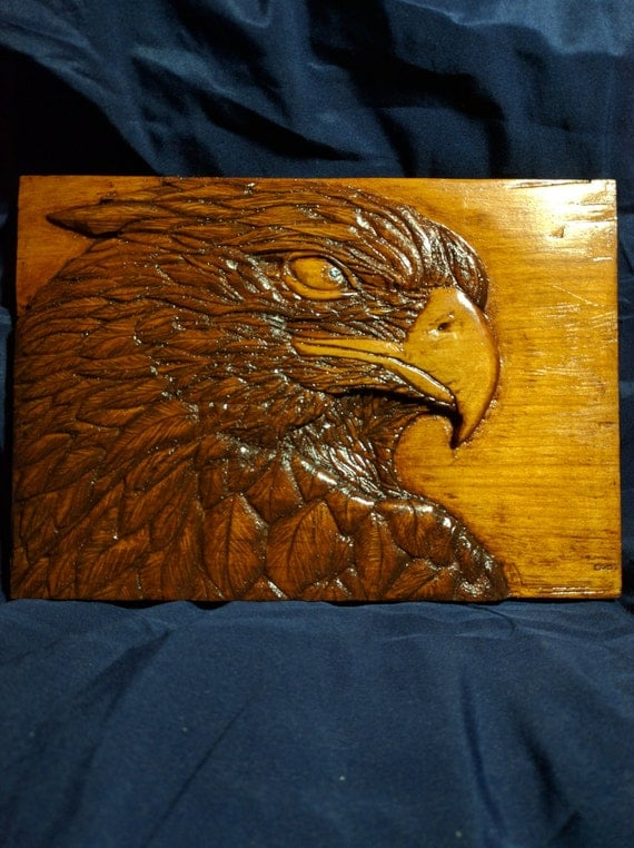 The sentinel eagle relief carving
