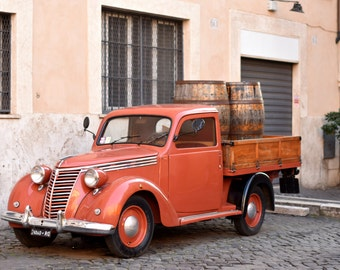 Digital Photography Download Vintage Car Trastevere, Rome, Italy