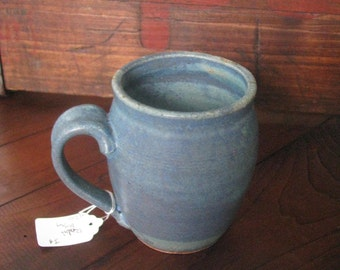 Handmade Pottery Mug, Teal Ceramic Mug, Coffee Cup