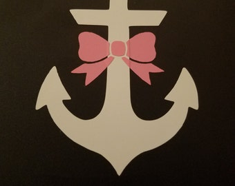 Anchor with bow decal