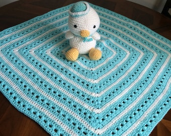 Darling duck and puff blanket