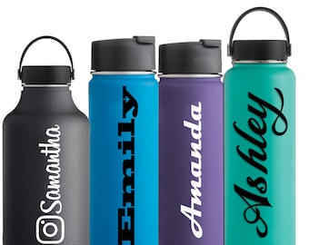 Name Decal Hydro Flask Water Bottle Sticker Hydroflask Camelbak Vinyl Decal Custom Sticker Personalized Name Decal Yeti Custom Hydroflask