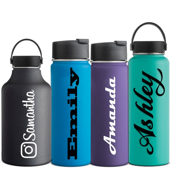 Name Decal Hydro Flask Water Bottle Sticker Hydroflask