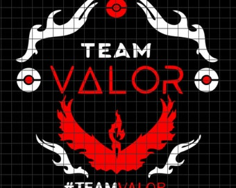 Team Valor Pokemon SVG/DXF/download for Cricut and Silhouette