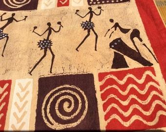 Batik-Kissenbezug-Tänzer rot 40x38,5 cm
