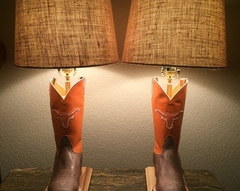 University of Texas Boot Lamp
