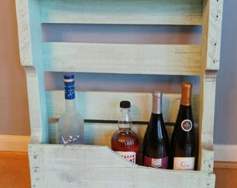 """Small Wine Rack made from pallet wood 20.5"""" W X 31"""" L"""