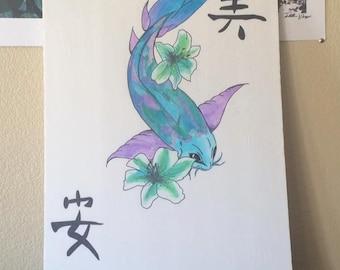 Purple CatFish Painting