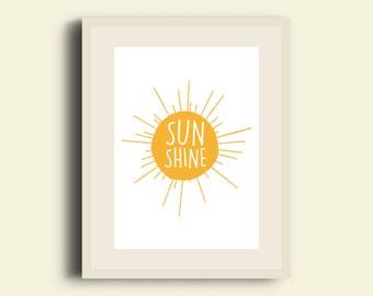 Sunshine Print Digital Download