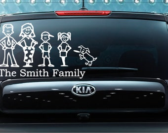 Family Car Decal, Car Decal, Family Sticker