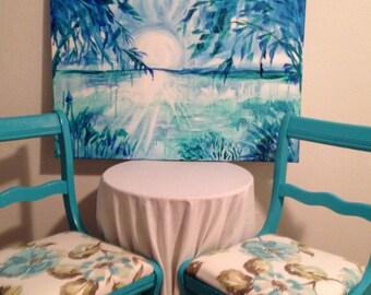 Vintage Teal Blue Chair