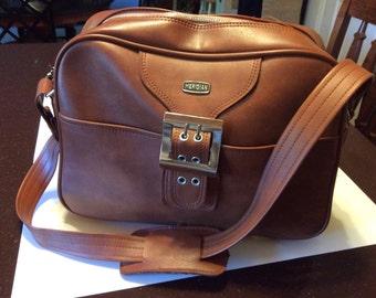 Vintage Merdian Carry On Luggage Bag