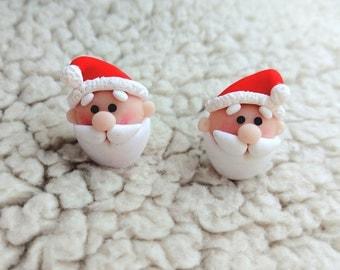 Holiday earrings Santa earrings Santa claus Christmas earrings Winter earrings New year Holiday gifts New year gifts Xmas gifts Christmas