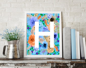 Letter H Wall Decor letter h art | etsy