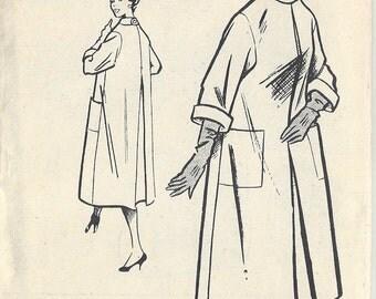 """1957 Vintage Sewing Pattern B36"""" COAT (R624) Bestway D.3,356"""