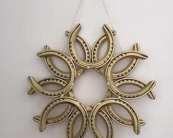 Horseshoe Christmas Wreath