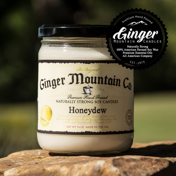 """Honeydew Scented Candle """"Free Shipping"""" 16 Ounce Large  """"Strong Highly Scented"""" Double Wicked, Soy, Super Strong, Best Scented candle"""
