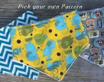 Pick your own print, toddler bib, toddler scarf bib, toddler bandana scarf, toddler drool scarf, dribble bib, toddler bandana bib