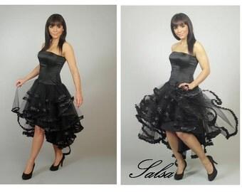 SALSA, black prom dress, Tulle halloween dress, Sweetheart party dress,evening dress,A-line  dress