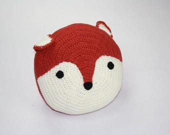 Handmade Crochet Fox Cushion