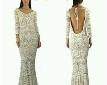 Crochet   Dress,    Crochet Fashion, sexy crochet boho dress, designer crochet dress .Fashion crochet dress