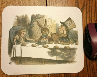 Alice in Wonderland Tea Party mousepad